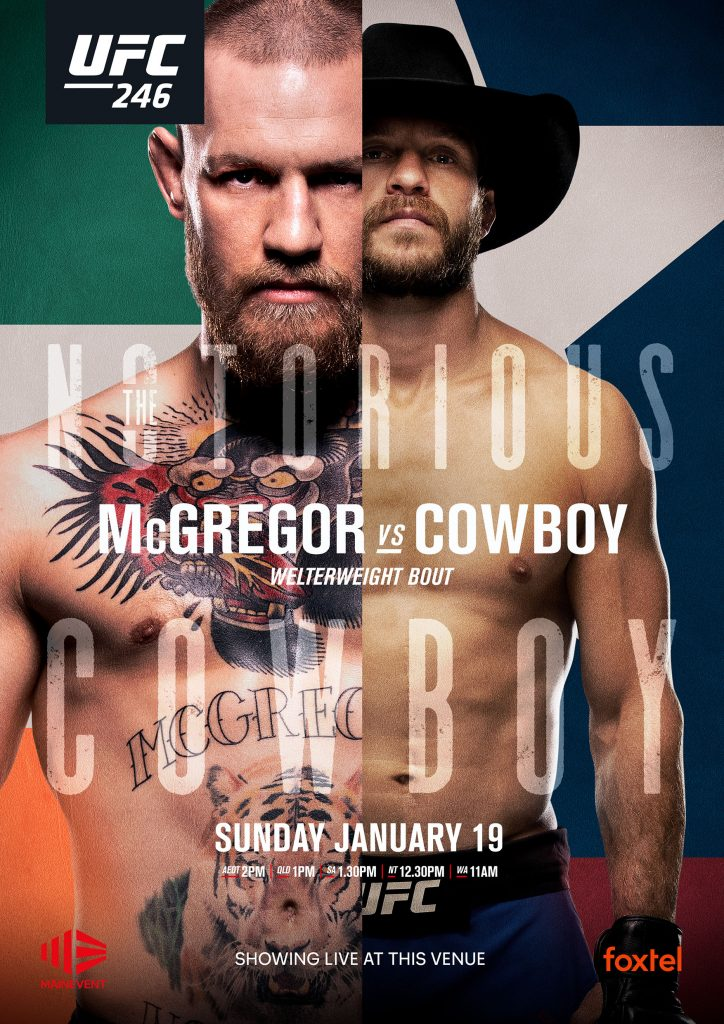 McGregor vs Cowboy – Live on the Big Screen